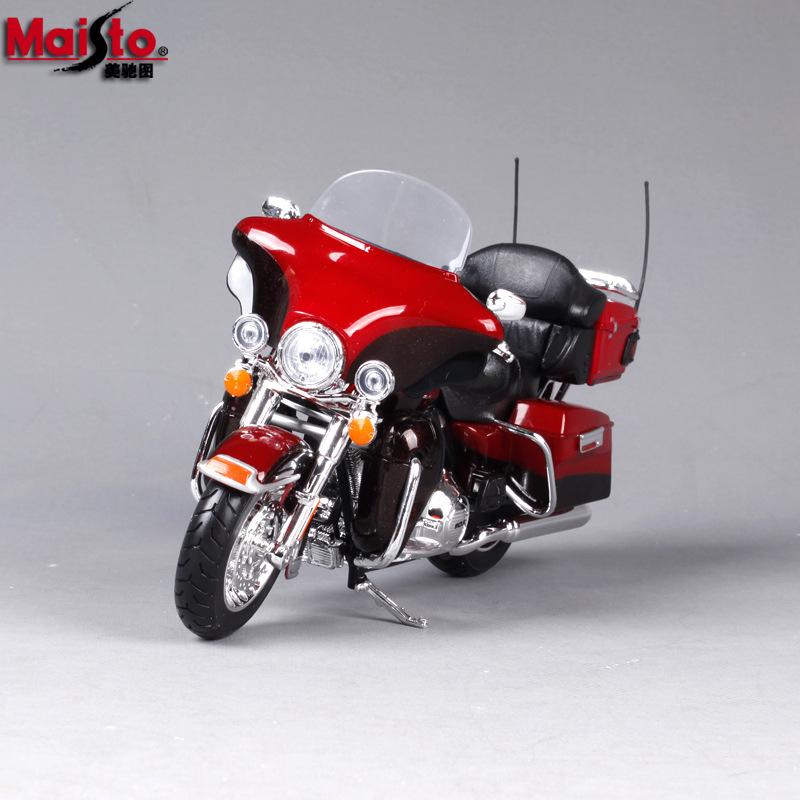 供应1比12美驰图2013滑翔仿真哈雷合金摩托尺模型 哈雷摩托尺模型