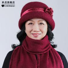 女冬兔毛帽