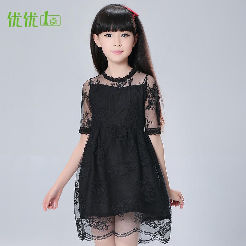 女童公主裙黑色