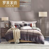 不掉色床单款床上用品纯棉大阪花被套秋冬新品全棉斜纹四件套