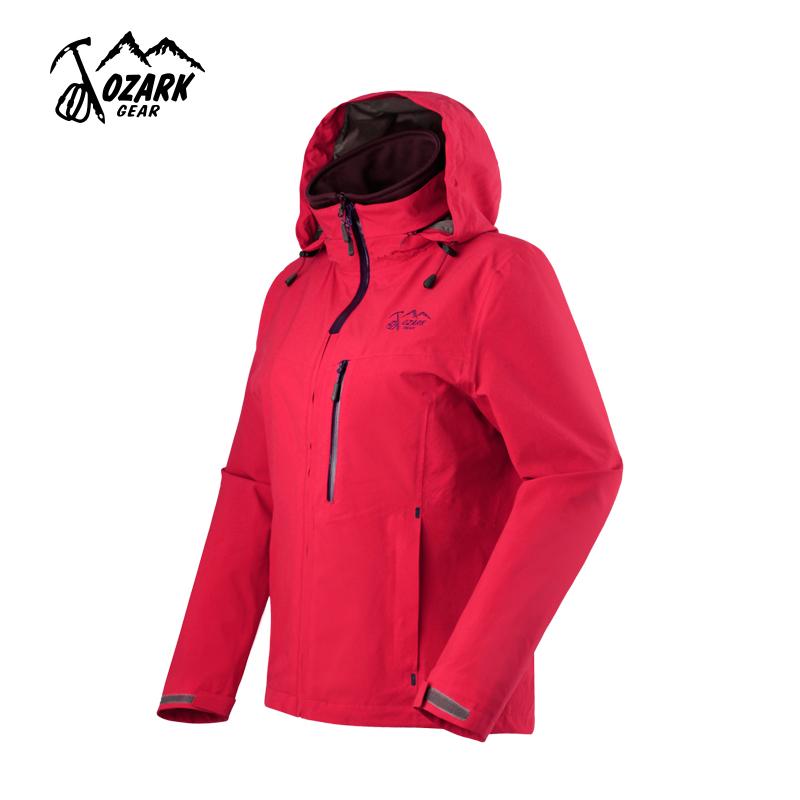 OZARK/奥索卡女士户外防泼水保暖弹力抓绒三合一冲锋衣外套135271