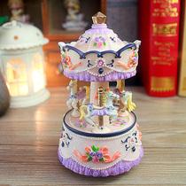 音音乐盒八音盒创意生日礼物女生天空之城七夕情人节78雷曼士木质