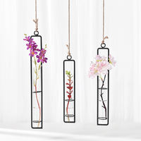Creative hanging transparent glass vase water flower gardening home decoration bottle landscape plant set