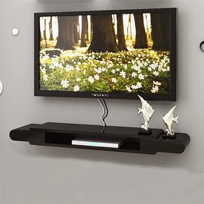 现代简约壁挂悬挂式电视柜实木橡木胡桃置物架小窄挂墙电视柜吊柜