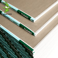 Bunny gypsum board ceiling material partition wall partition wall without aldehyde grade 9.5mm ceiling decorative board