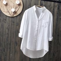 新款白衬衣冷系女装春职业工作服翻领简约上衣8衬衫女长袖