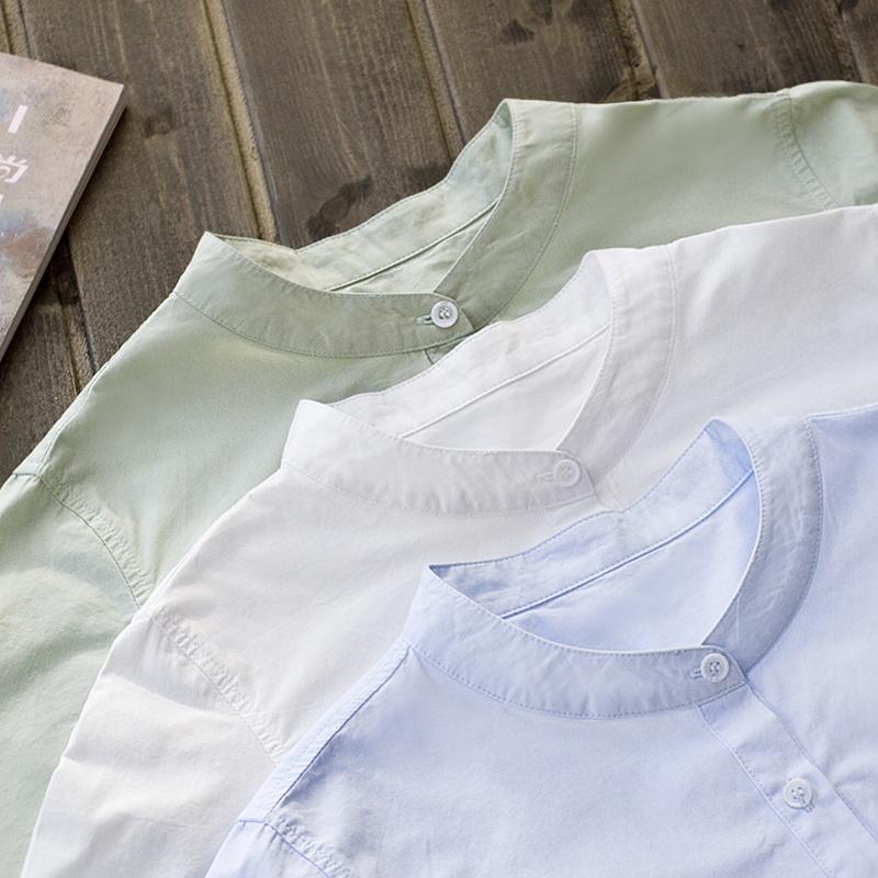 棉糖果长袖衬衫