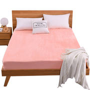 Coral fleece bed 笠 single piece flannel bed cover winter warm sheets 1.8m mattress cover thick dust cover