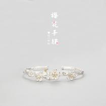 水钻合金手镯韩版冷淡风玫瑰金首饰品手饰网红镯子女款小众设计