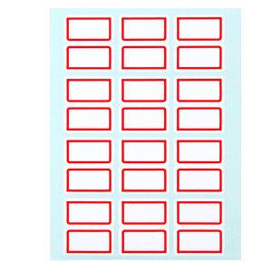 得力标签贴不干胶标签纸自粘性姓名名字大号小号标签贴纸口齐口序扣取口取纸价格价钱贴空白标记可手写长方形