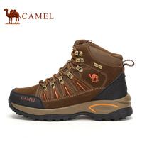 骆驼男鞋 冬春季男士高帮登山鞋户外运动徒步鞋加厚保暖情侣款