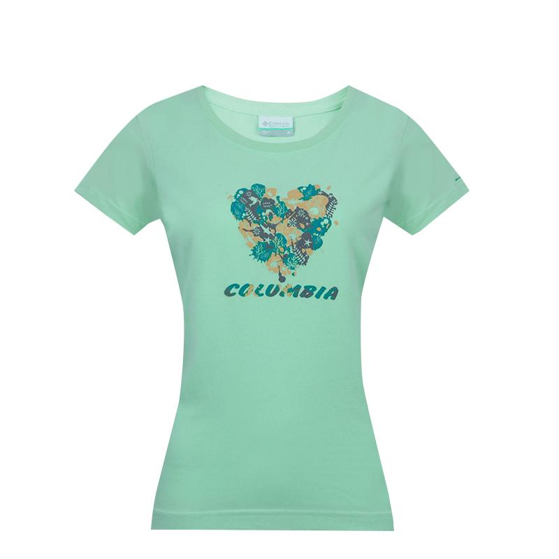 春夏Columbia哥伦比亚户外女吸湿爽干透气短袖T恤PL2580