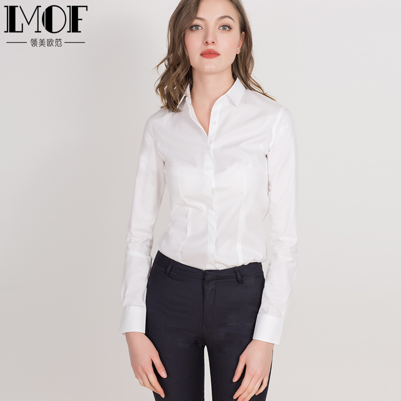 Long-sleeved shirt ladies overalls interview shirt professional dress autumn and summer ol business new