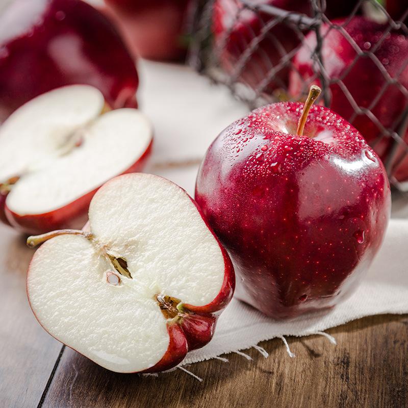 美国红蛇果8个(约190g/个)非甘肃天水花牛苹果非5斤新鲜红蛇果