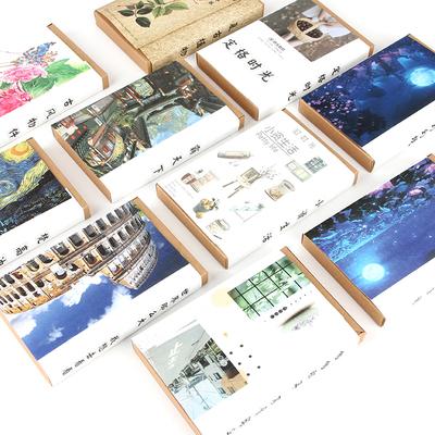 古风文艺风景画明信片 创意盒装祝福卡片 diy照片墙装饰卡纸文具