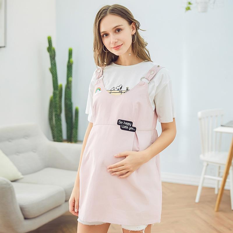 婧麒防辐射孕妇装正品怀孕期夏季防辐射衣服连衣背带围裙上衣外套