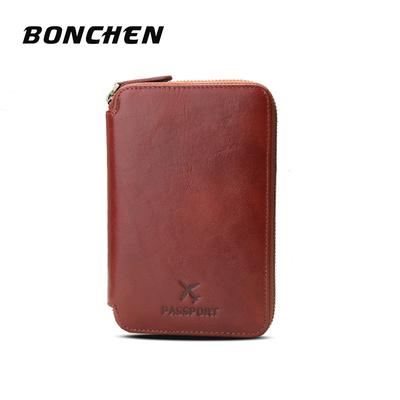 新款真皮护照包拉链手包男女通用钱包证件包一体设计全头层牛皮