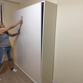 艺文壁柜床隐形床多功能折叠收纳床电动1.8米墨菲床家具五金配件