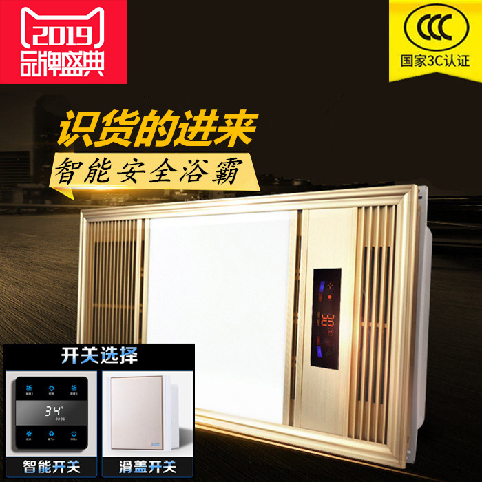 集成吊顶卫生间灯具浴霸三合一暖风机家用取暖厕所浴室抽风一体机