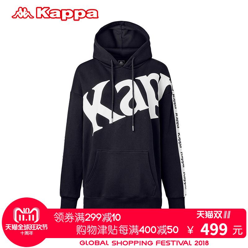 KAPPA/卡帕专柜女子运动服2018秋新款 中长款串标卫衣|K0862MT62D