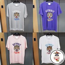 【韩国五月新品】MLB夏季老虎队男女款短袖休闲T恤老虎头印花