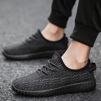 春季老北京布鞋男士休闲运动跑步鞋中年爸爸软底透气飞织网面男鞋