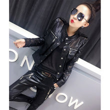 New leather jacket, short jacket, PU jacket for women in the summer of 2019