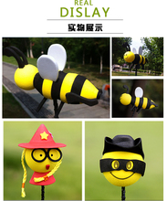 Car antenna adornment doll adornment ball doll top cute little bee 3D stereo mini appearance refit