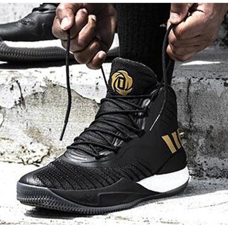 阿迪达斯男鞋D Rose 8 罗斯8代战靴 Boost缓震实战篮球鞋CQ1618