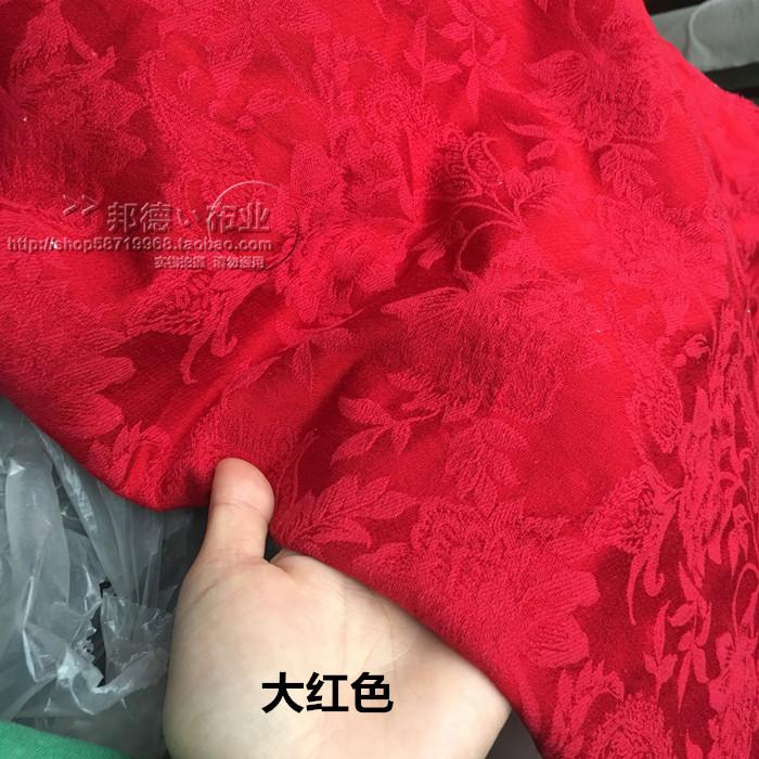 棉麻提花布料 腰果玫瑰花 早春唐装 汉服 袍子连衣裙面料网红同款