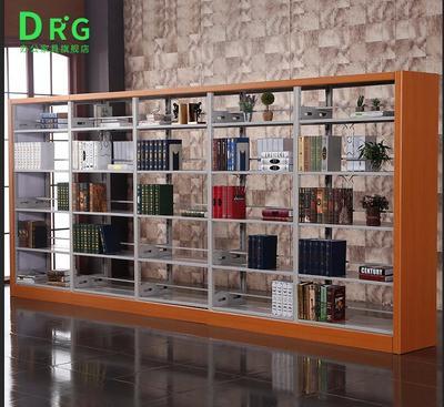 DRG钢制书架学校图书馆书店阅览室家用单双面货架期刊架展示架网上商城