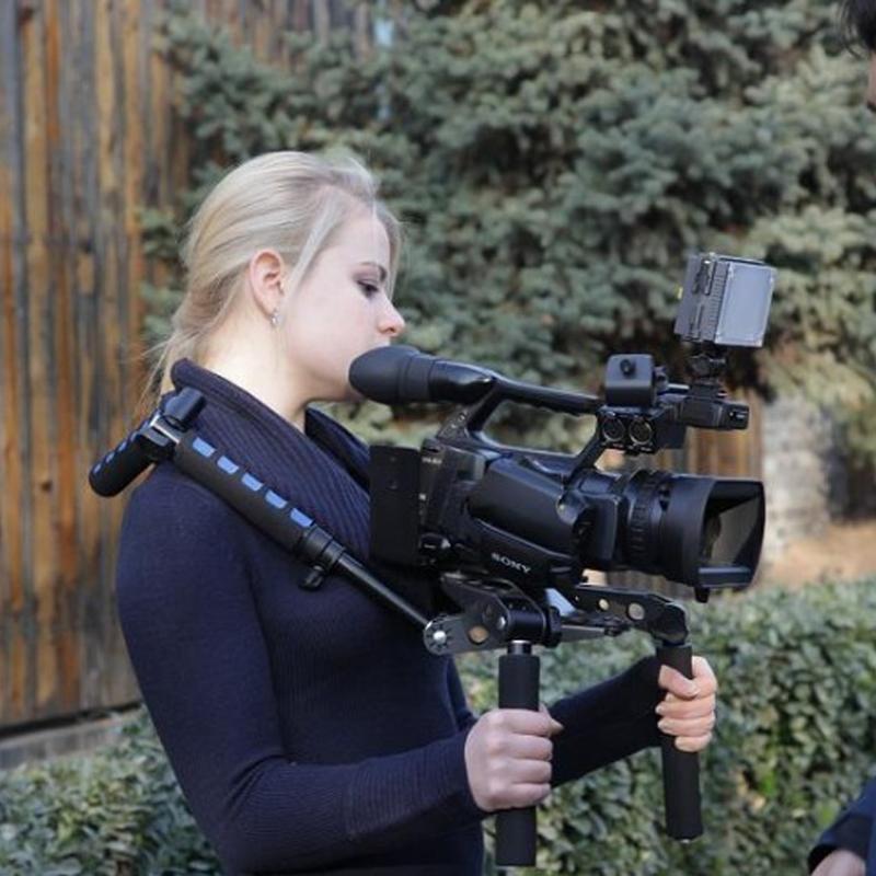 DV佳能手持稳定器肩扛支架肩托架相机配件