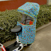 Thicken bicycle child seat canopy to increase rear awning electric car baby rear seat rainproof windproof shed