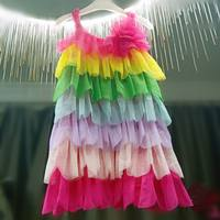 Call Link Kids Summer Rainbow Cake Dress