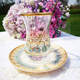 Selim Turkey buys heat-resistant double-layered thick-foamed tea cup cup hand-painted creative ins set