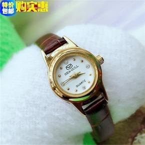 正品海鸥手表石英女表复古原装库存海鸥小款 精美小巧学生手表