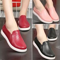 步鞋鞋子女秋时尚老年黑色中国风舒服加肥平底北京老布鞋