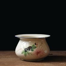 古董旧物 民国老瓷器老物件收藏釉下彩文房水盂笔洗茶缸罐摆件