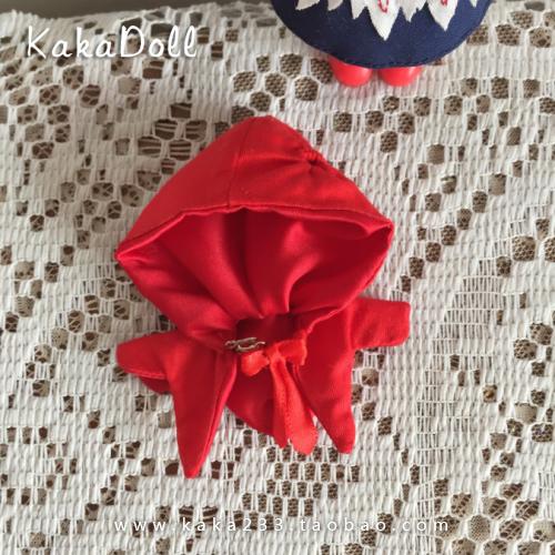 【展示】小红帽lolita圣诞红色斗篷连衣裙套装 OB11娃娃衣服
