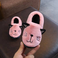 Children's home cotton slippers boys and girls soft bottom non-slip warm cotton shoes baby kids bag with indoor slippers winter