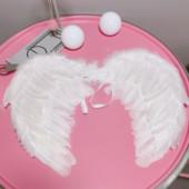 饰拍摄道具摆设羽毛挂件 韩风chic少女心可爱天使翅膀房间装