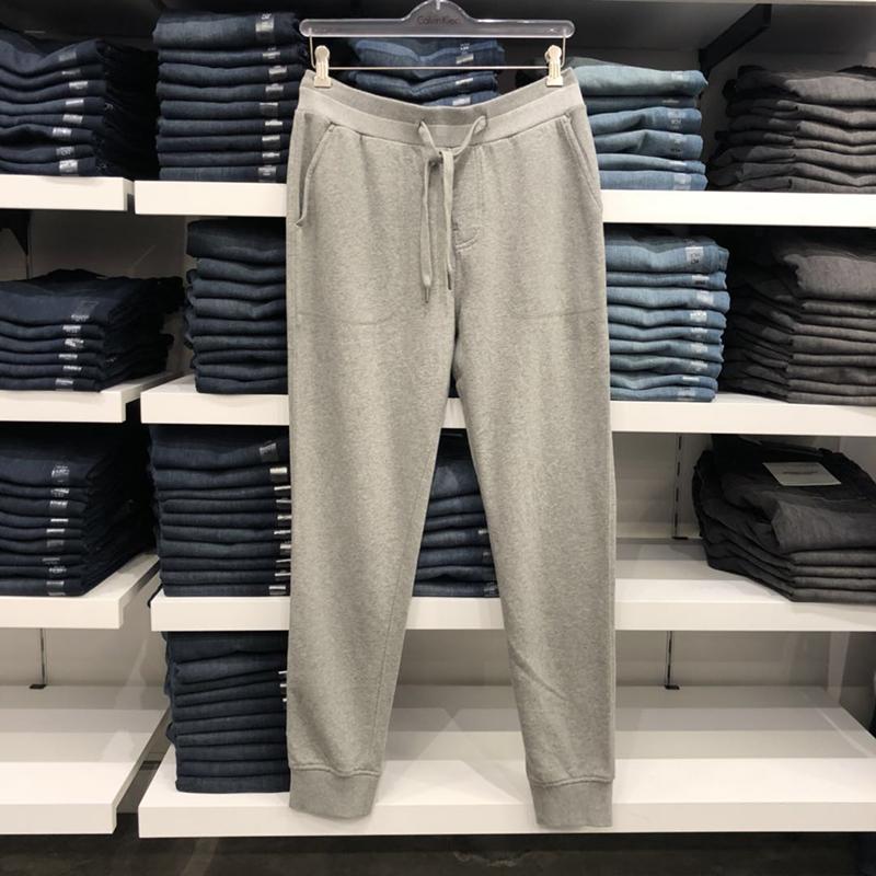 美中购物车Calvin Klein男休闲运动收脚卫裤透气长裤宽松纯棉裤子
