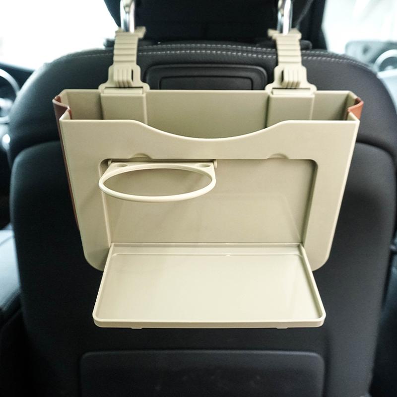 多功能车载垃圾桶悬挂式折叠储物盒汽车内用后排专用收纳置物时尚