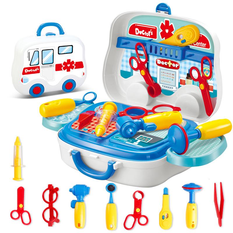 过家家厨房手提旅行箱做饭医生化妆礼盒玩具宝宝儿童女孩男孩套装