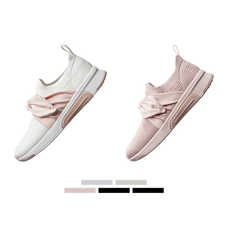【设计师款】Skechers斯凯奇2019春夏新品时尚蝴蝶结运动鞋 68741