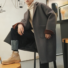 2008 Popular Overcoat Men's Winter Korean Edition Shoulder-Dropping Mid-long Outerwear Loose Wool Thickened Windswear Institutes