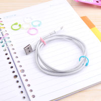 Giant door stationery loose-leaf ring binding ring boxed color random ring loose-leaf circle creative opening binding ring plastic