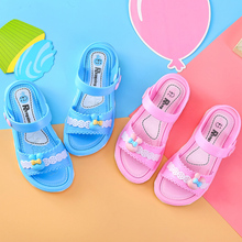 女童凉鞋2019夏季新款沙滩鞋儿童塑料凉鞋露趾防滑软底儿童公主鞋