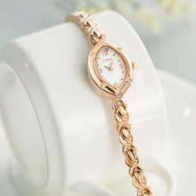 2009 New Korean Simple Student Bracelet Waterproof Quartz Drilled Elliptical Jewelry Chain Women's Elegant Watch