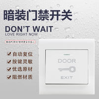 Gillette access control switch button 86 type switch socket panel Self-reset door open button switch